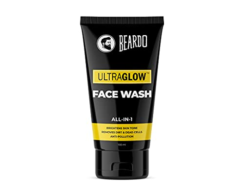 Beardo Ultraglow Face Wash for Men   Brightens & Balances Skin Tone   Reduces Dark Spots & Hyperpigmentation  Daily use facewash for oily to dry skin   Glowing and Radiant Skin (100ml)