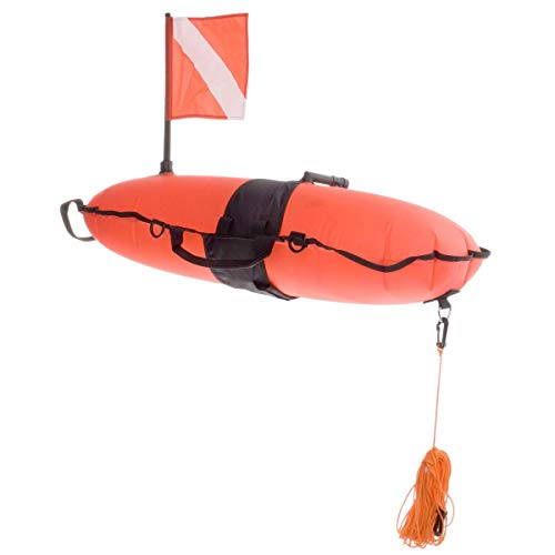 Innovative Scuba Concepts Torpedo Buoy Orange W/LINE