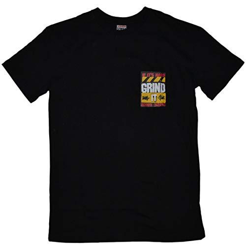 Vision Street Wear T-Shirt Mens Black Grind Tee Black XXL