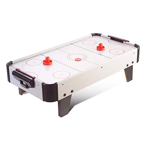 SHFAMHS Mesas de Air Hockey con Accesorios de Air Hockey Juego de Air Hockey Eléctrico Plug-in 2 Pucks + 2 Palas + Ventilador de Motor Eléctrico + Sopladores para Sala de Juegos Niños Adultos