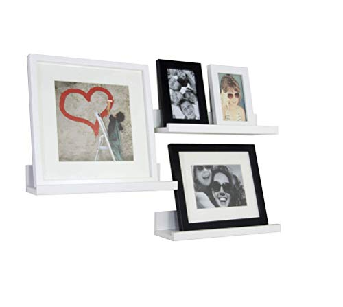 Set de 3 Estantes de Pared Decoration 35 x 10 cm, Blanco