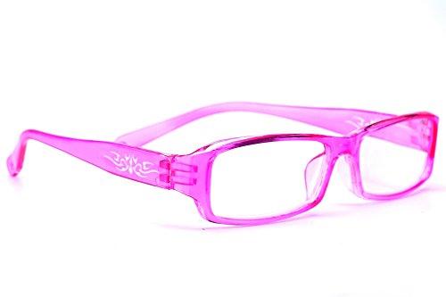 morefaz New Unisex (Damen Herren) Flower Blumen Retro Vintage Lesebrille Brille +0.50 +0.75 +1.0 +1.5 +2.0 +2.5 +3.00 +4.00 Reading Glasses (TM) (+2.5, Pink)