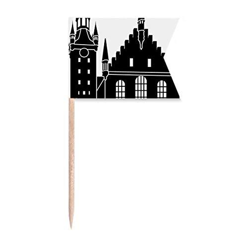Deutschland Köln Dom Wahrzeichen Zahnstocher Flaggen Kennzeichnung Markierung für Party Kuchen Lebensmittel Käseplatte