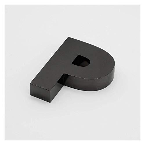 Letras Corporeas de 15x20cm con 4cm de grosor de Acero Negro. Personalizado (GANB)