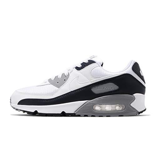 Nike Air MAX 90 S, Zapatillas para Correr Hombre, White/White/Particle Grey/Obsidian, 39 EU
