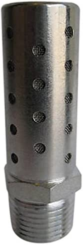 "Pneumatic High Flow Stainless Steel Mesh Screen Silencer 1"" NPT by MettleAir"