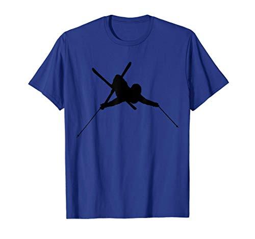 Esquí Slopestyle Skier Freerider Esquí Freestyle Powder Camiseta