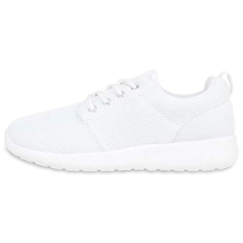 Giralin Damen Sportschuhe Trendfarben Runners Sneakers Laufschuhe 137842 Weiss 38