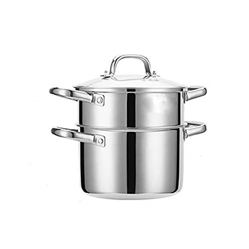 HHTD Acero Inoxidable Pequeño Vapor 2 Personas Cocina de inducción HOGAR Mini PEQUEÑO POTO sobre sobre sobre EL VAPORTE Adecuado para LA Cocina HOGAR