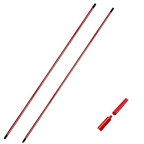FINGER TEN Golf Alignment Sticks Golf Alignment Stix Set Golf Practice Aid Tour Rodz Golf Übungshilfe Golfschwung Trainer (Red 4 in 2)