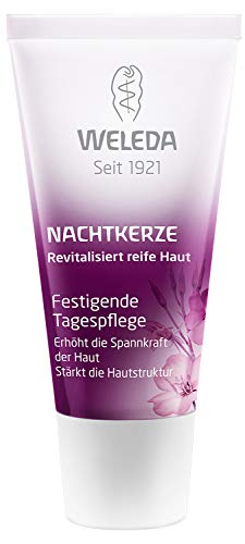 WELEDA Nachtkerze Festigende Tagespflege, vitaminreiche Naturkosmetik Pflegecreme für reife Haut im Gesicht, Gesichtscreme gegen tiefe Falten und trockene Haut für Spannkraft (1 x 30 ml)
