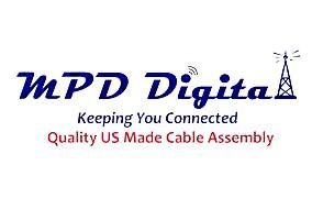 MPD Digital lmr400UF-pl259-uhf-mm-2 LMR-400 UltraFlex LMR400UF Coaxial Cable Jumper PL-259 UHF Male Connectors - 2 Ft