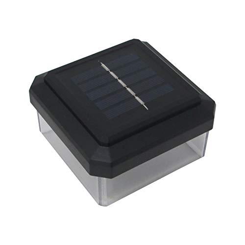 4er Set LED Abdeckkappen für 80 x 80 mm Zaunpfosten Solar Pfostenkappe Zaunpfosten Abdeckung