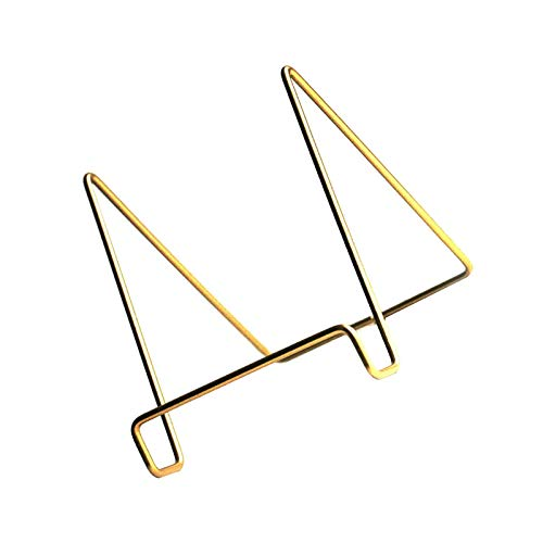 litulituhallo La placa del marco de la imagen apoya el metal dorado del soporte de la bandeja del alambre del hierro de la exhib