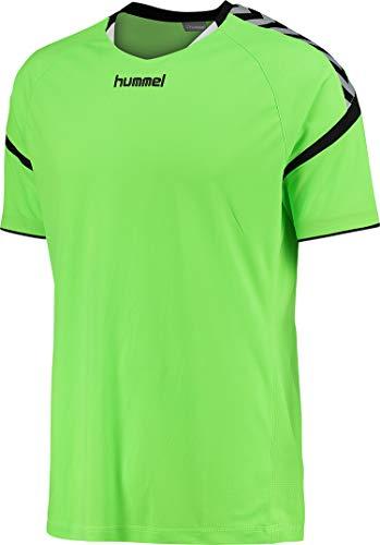 hummel Kinder Auth. Charge Short Sleeve Poly Jersey Trikot,grün(Green Gecko),140-152