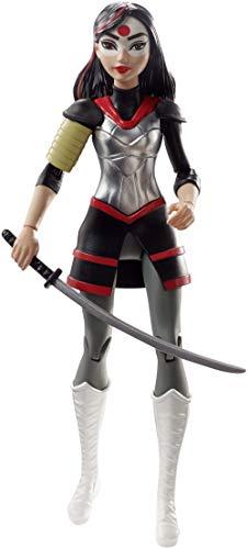 DC Super Hero Girls Figurine Articulée Katana de 15 cm brune en tenue de super-héroine à collectionner, jouet enfant, DVG28