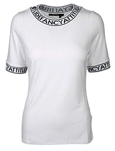 Marc Aurel Damen Shirt mit Webblenden Größe 42 EU Weiß (weiß)