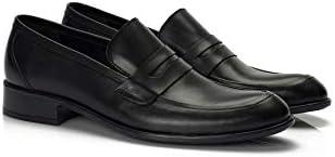 Muggo H040 Hakiki Deri Klasik Erkek Ayakkabı Siyah-42