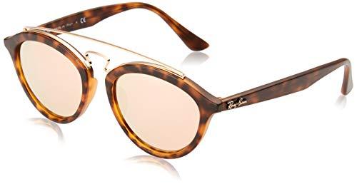 Ray-Ban La Mujer Rb4257F Gafas de sol, 51mm, Luz Marrón Rosa Espejo mate Habana
