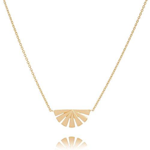 Pernille Corydon Halskette Damen Dawn Goldene Kette Anhänger Sonnenuntergang Sunset Dämmerung Silber vergoldet Variable Länge 42-50 cm - N590g