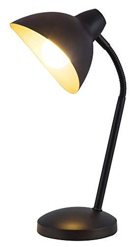 Tischlampe gold, schwarz, Metall, Theodor, leuchtenladen, Tischleuchte Leselampe Nachttischlampe