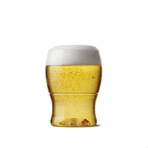 TOSSWARE POP 7oz Pint Mini SET OF 12, Recyclable, Unbreakable & Crystal Clear Plastic Beer Glasses