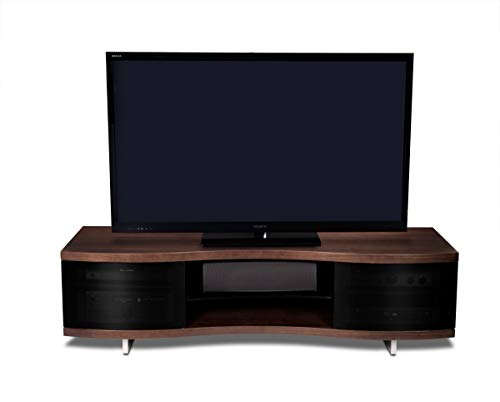 BDI Furniture 8137 Ola Triple Wide Curved Cabinet, Chocolate Stained Walnut