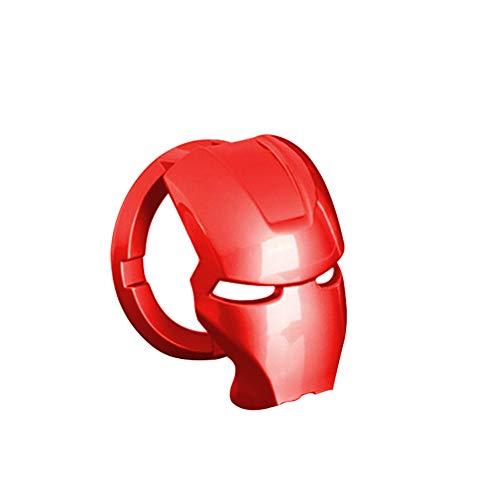 iSpchen Cubierta del botón de arranque/parada del motor, botón de arranque de la cubierta de ignición anillo aleación anti-arañazos interruptor del motor del coche Iron Man 3D Anime Character