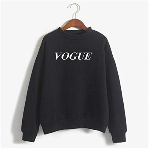 EIJFKNC Sweatshirt Womens Letter Vogue Bedruckte Sweatshirts Hoodie Herbst Langarm-Sweatshirt Kapuzenpullover Tops, schwarz, P40, W, XL