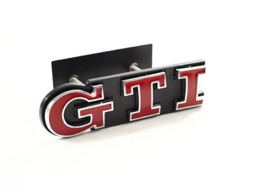 Exotic Store vor GTI Kühlergrill Emblem Fit für VW Golf 5Polo Passat MK4MK5MK6MK7Aufkleber Kühlergrill Emblem Badge–Rot/Chrom