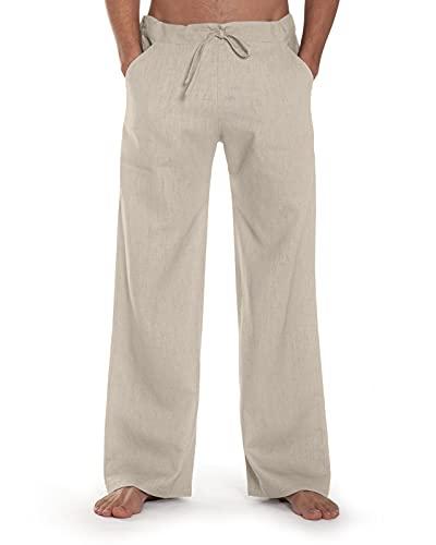 SCHAZAD Leinenhose Essential-Sport (XL, beige)