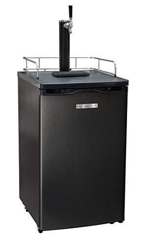 Homecraft Black Stainless Steel Full-Size Kegerator Draft Beer Dispenser & Beer Cooler, Spring-Loaded Tap Dispenser, Holds 1/6, 1/4, 1/2 Barrels,...