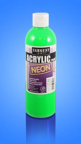Sargent Art 16oz Neon Acrylic Paint, Green