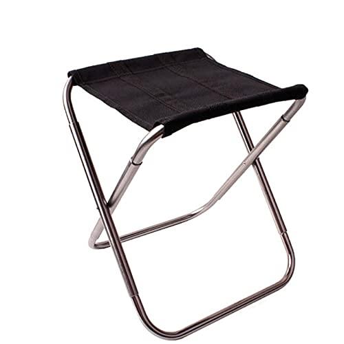 Mini taburete de camping Silla Asiento plegable Playa Slacker Silla baja ligera, resistente, compacta ultraligera portátil para pesca del ejército senderismo (plata)