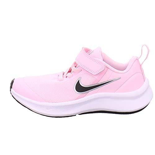 Nike Star Runner 3, Zapatos de Tenis Unisex niños, Pink Foam Black, 34 EU