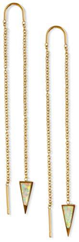 Dagger Long Earrings for Women   14k Gold Dangly Earrings for Women   Dagger Drop Earrings Women   Earrings Long Chain Earrings Women, Nickel Free Hypoallergenic Earrings, Gold Earrings Opal Earrings