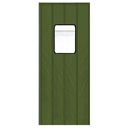 Verde Cortinas Modernas Para Habitacion con Ventana Transparente 80x200cm/31.5x78.8in Cortinas Aislantes Cortina De Puerta De Algodón Espesa, Cortinas A Prueba De Viento Calientes Con Aislamiento Tér