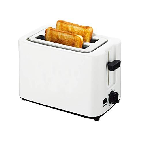 CHQY Mini tostadora, Acero Inoxidable 2 Ranura Ancha tostadora Retro, máquina de Desayuno Pop-up automática compacta, 6 Engranajes Ajustables, para gofres de Pan White