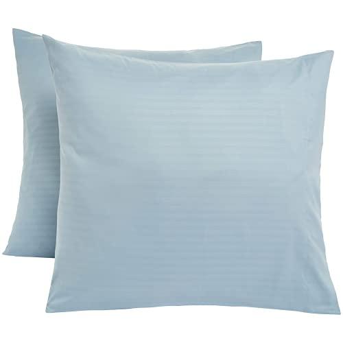 SHOWWE Funda de cojín de microfibra de lujo de 2 piezas, diseño cuadrado, suave, antiarrugas, antiácaros, para sofá, sala de estar, dormitorio (azul cielo)