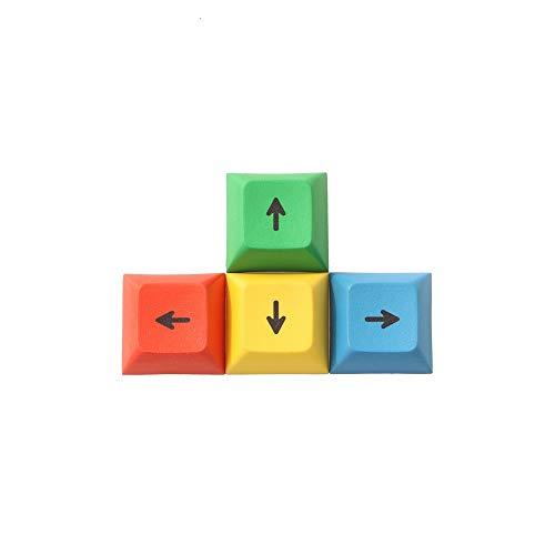 WULE-RYP DSA Perfil Dirección PBT RGBY ESC WASD Teclado tecla de Flecha Cap mecánica de sublimación de Tinta Keycaps (Colore : 4 Arrow Keys)