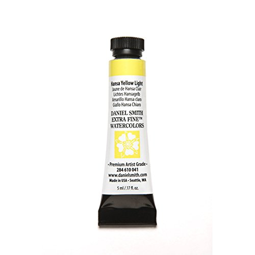 DANIEL SMITH 284610041 Extra Fine Watercolors Tube, 5ml, Hansa Yellow Light