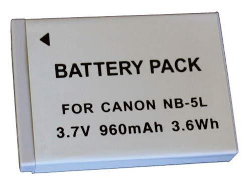 Bateria NB-5L 960mAh para câmera digital e filmadora Canon Digital Ixus 800 IS, PowerShot SD900