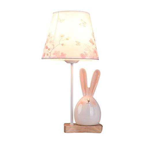 YNHNI Princesa Linda lámpara de Mesa de Noche Caliente romántico Dormitorio Luz - Rosa,Pequeña (Color : Rabbit)