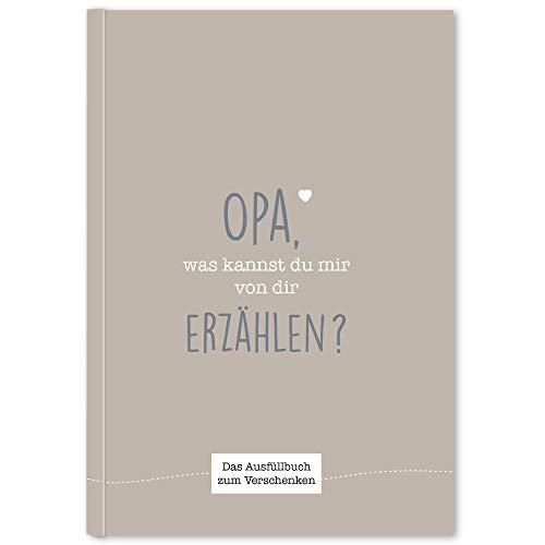 CUPCAKES & KISSES® Opa was kannst du mir erzählen I Buch zum ausfüllen I Geschenke für Opa I Geschenk für deinen Opa zum Geburtstag oder Weihnachten