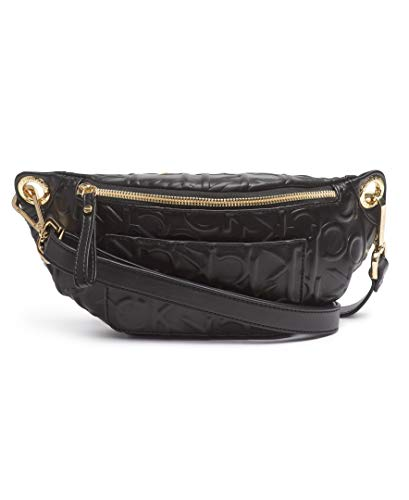 Calvin Klein Sonoma Signature Monogram Belt Bag, BLACK