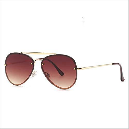 Gafas De Sol De Moda ConduccióN Y ConduccióN Gafas De Sol para Hombres Y Mujeres Gafas De Sol De Aviador,E