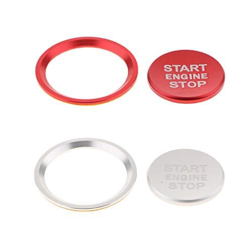 FLAMEER 1 Motor Startknopf Abdeckkappe Trim Zündschalter Knopf Abdeckungen Und Ringe Außen