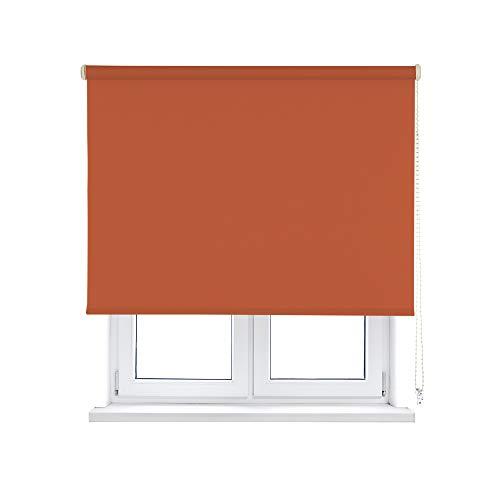 KAATEN Estor Enrollable Opaco/Black-out/Oscurante-Disponible en Varias Medidas y Colores, Terracotta, 150x250