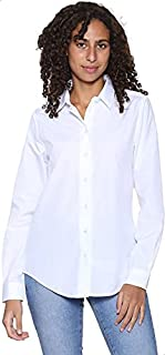قميص قطن سادة بأكمام طويلة للنساء من موباكو