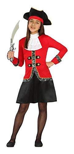 Cisne 2013, S.L. Disfraz de Pirata para niña, 3 Piezas, Elemento para la Cabeza, Color Negro, Blanco y Rojo. Fiestas, Reuniones. 5-6 Años